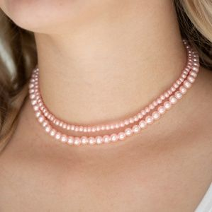 Pastel Pink Pearl Choker Necklace